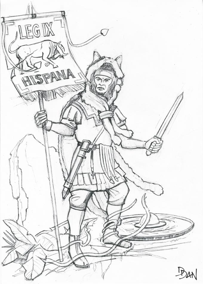 Illus de Dan_Le vexillaire de la Legio IX Hispana Ed2_ve10