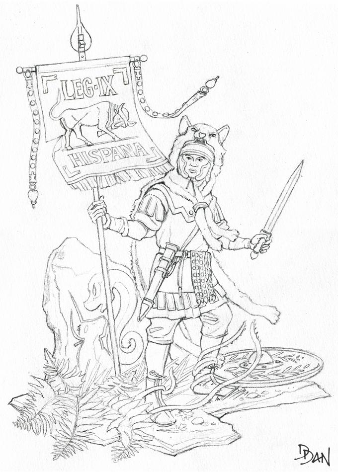 Illus de Dan_Le vexillaire de la Legio IX Hispana Ed3_ve10