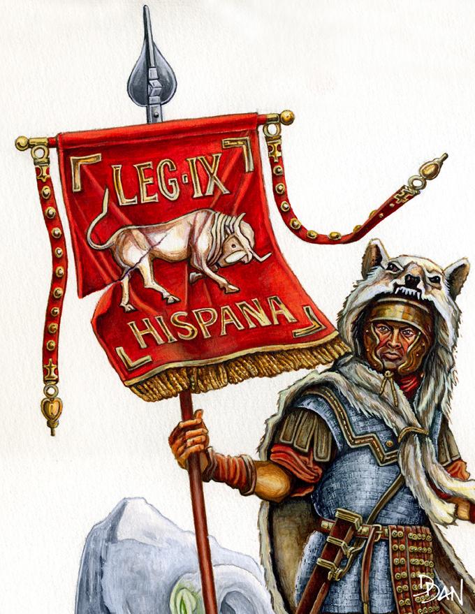 Illus de Dan_Le vexillaire de la Legio IX Hispana Ed5_ve10