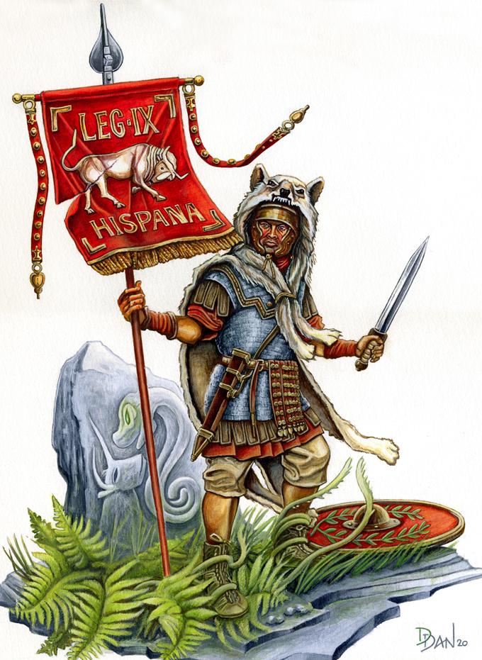 Illus de Dan_Le vexillaire de la Legio IX Hispana Ed7_ve10