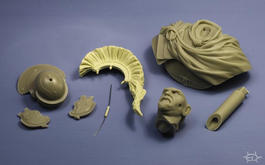 Buste d'optio romain (Pegaso 1/10)_Styles et tenues Edan_o17