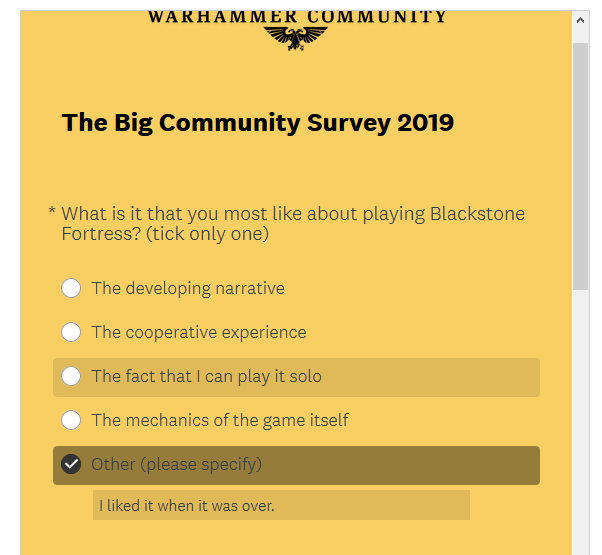 GW Big Community Survey 2019 is up! Part110
