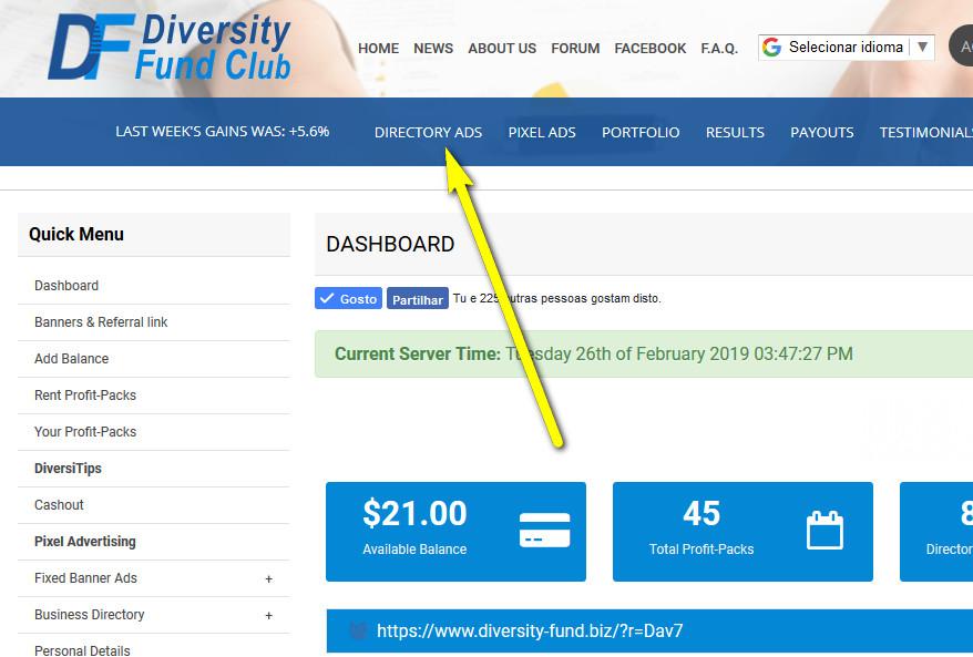 OPORTUNIDADE  [Risco - Provado] Diversity Fund Club - Página 3 2019-013