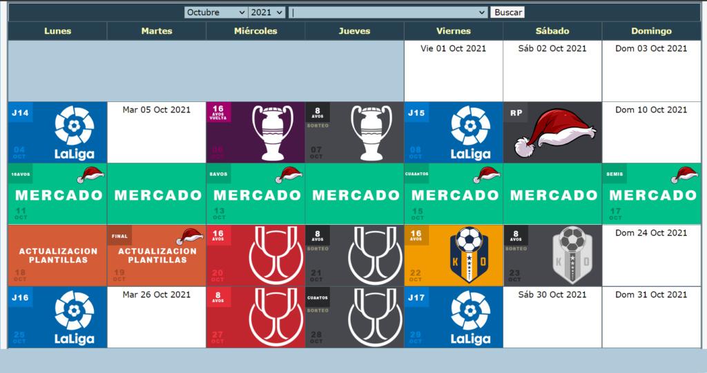 Calendario Oficial // Temporada 8 10_oct11