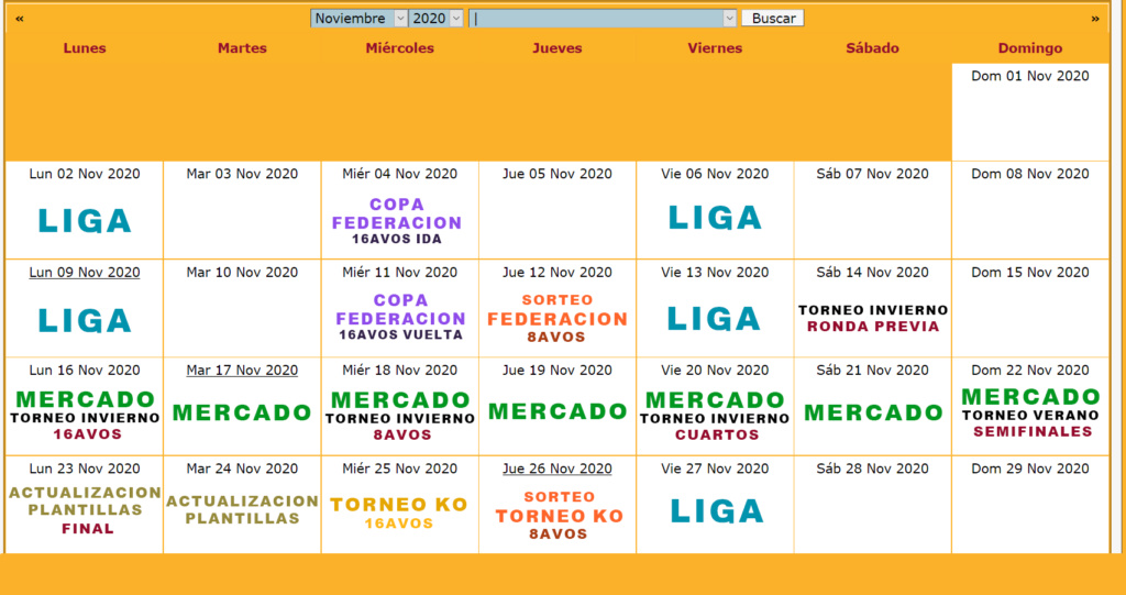 Calendario Oficial // Temporada 6 11_nov10