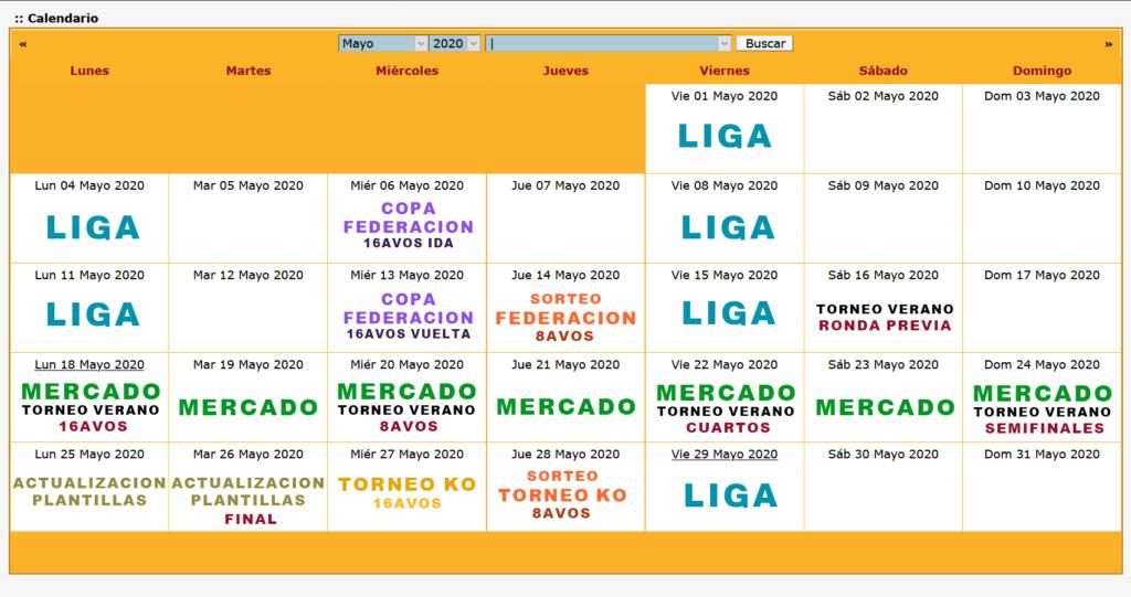 Calendario Oficial // Temporada 5 5_mayo10