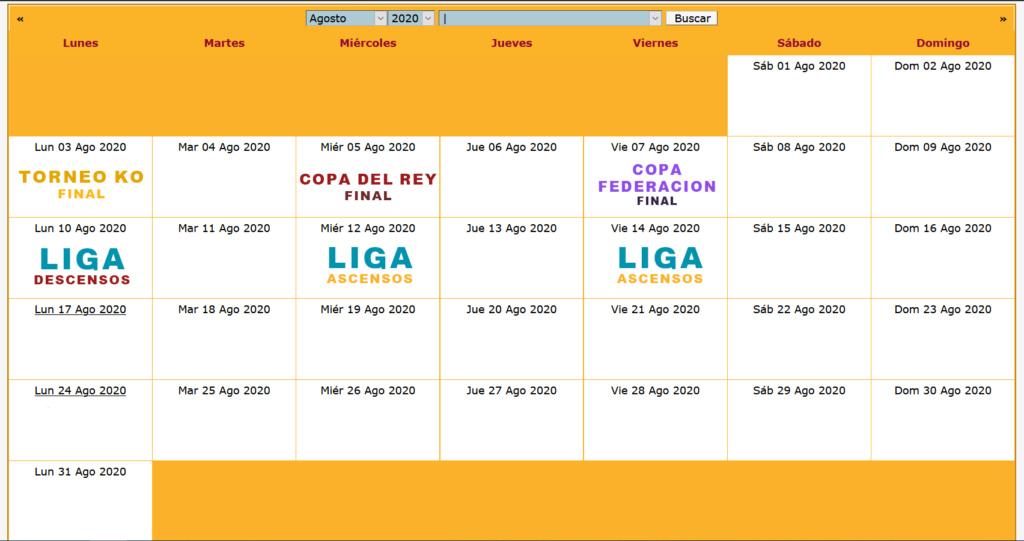 Calendario Oficial // Temporada 5 8_agos10