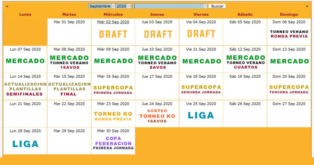 Calendario Oficial // Temporada 6 9_sept10