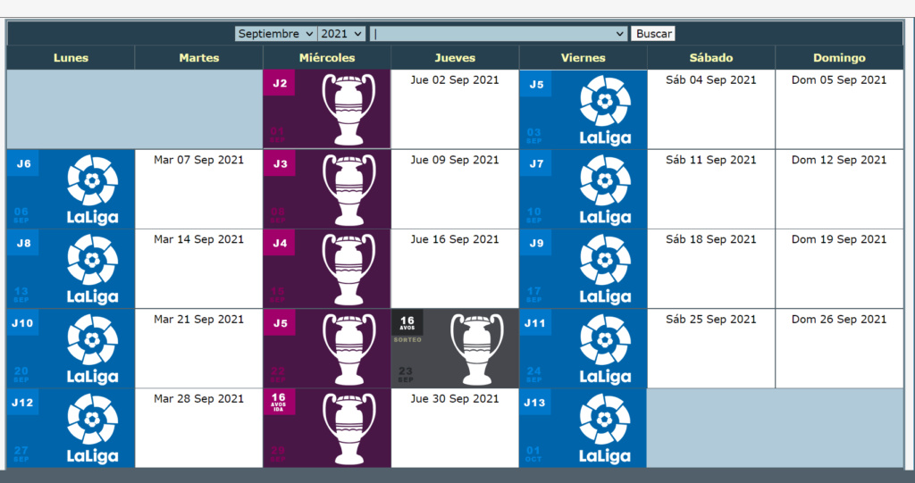 Calendario Oficial // Temporada 8 9_sept11