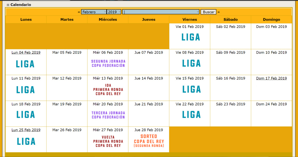 Calendario Oficial // Temporada 3 Febrer13