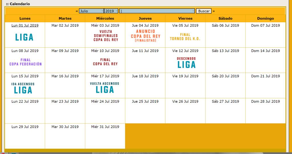 Calendario Oficial // Temporada 3 Julio11