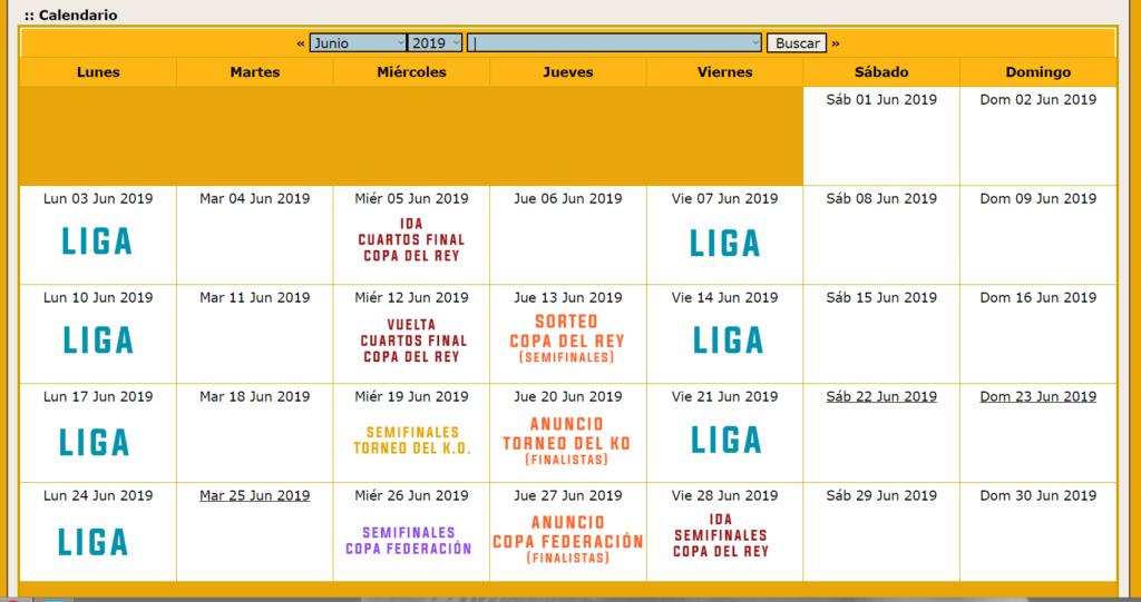 Calendario Oficial // Temporada 3 Junio12