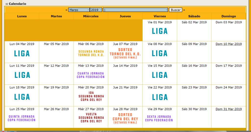 Calendario Oficial // Temporada 3 Marzo12