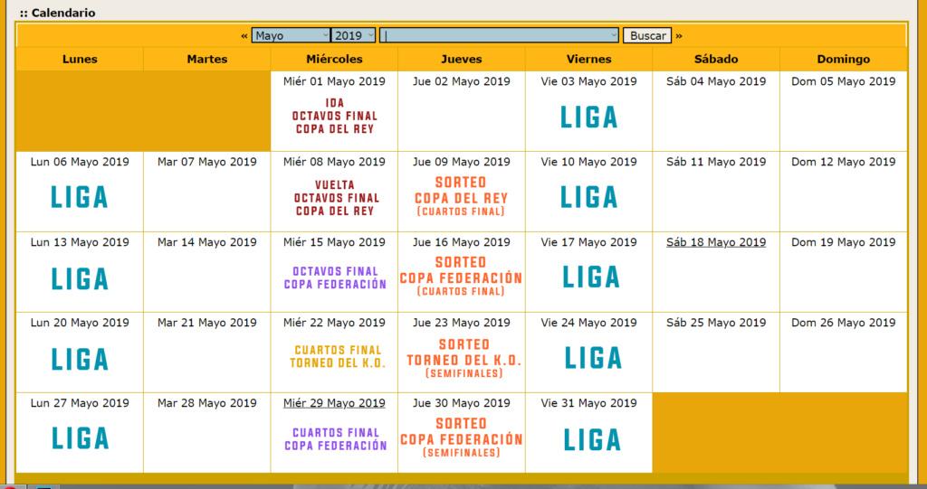 Calendario Oficial // Temporada 3 Mayo13