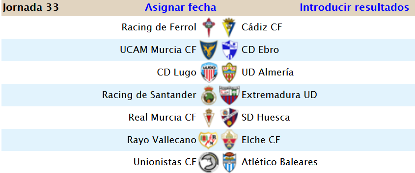 Jornada 33 (6-1) Screen61