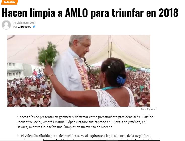 LÓPEZ OBRADOR ENTRE EL POPULISMO Y LA BRUJERÍA Kab12