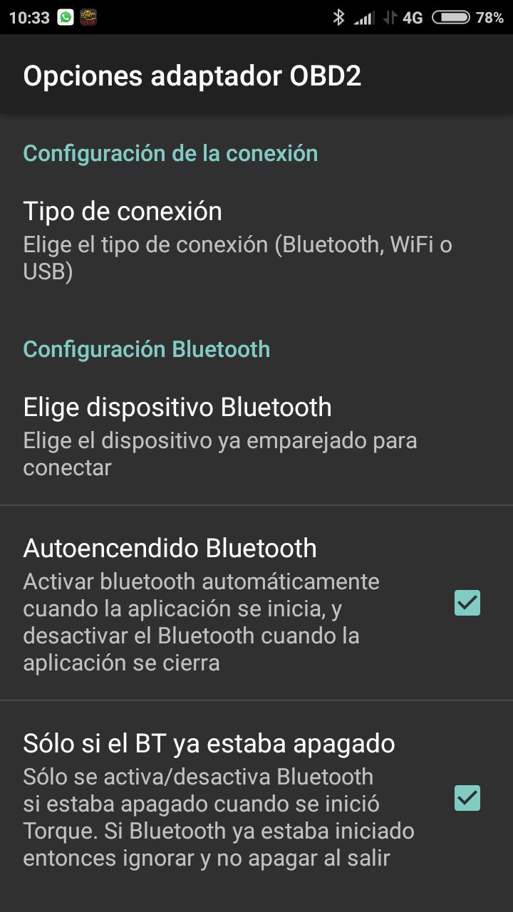 Conexión Torque Pro  Elm327 Screen13