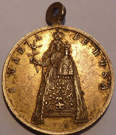 Ntra. Sra. de la Rosa (Basilica Sta. Margarita Liguria) / Inscripción, s. XIX P1030311