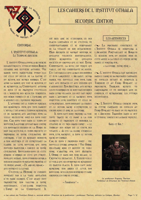 Les cahiers de l'Institut Othala  01_les13