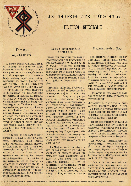 Les cahiers de l'Institut Othala  Cahier10