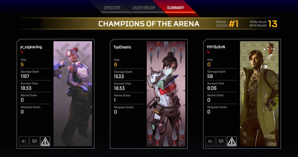 Apex Legends Season 3 win 8killm10