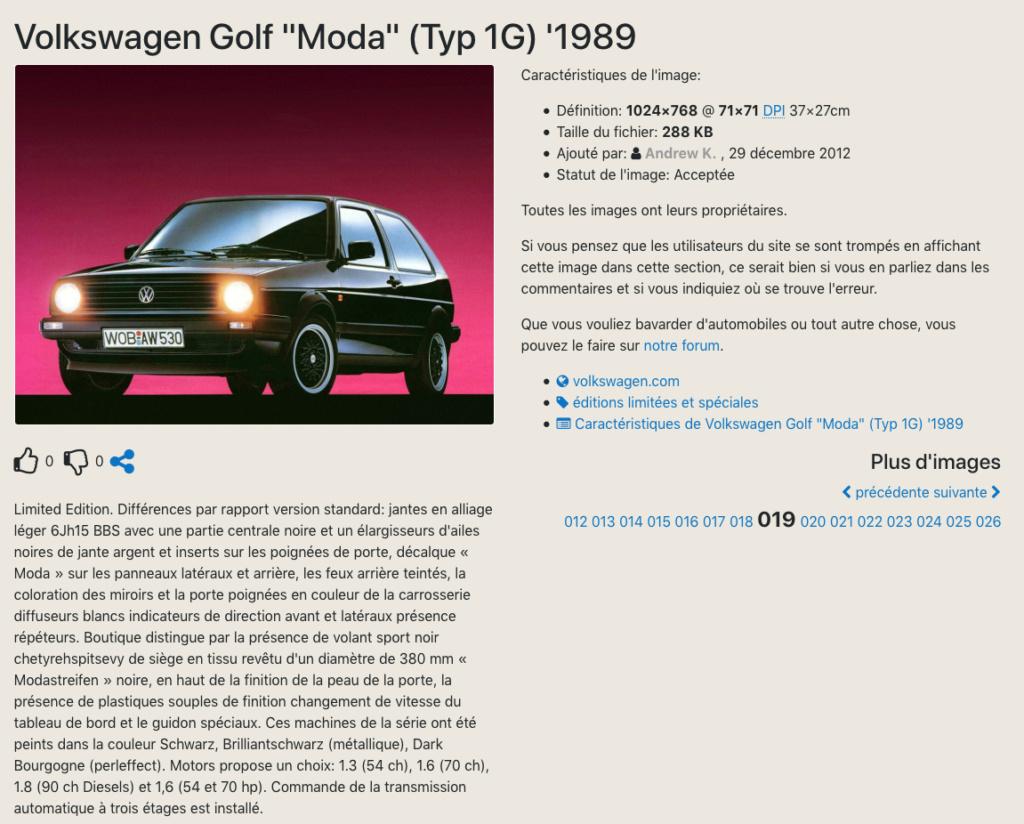 """La Golf """"MODA"""" a la couleur Bourgogne """"LC3U"""" de commune avec l'EDITION ONE Captu213"""