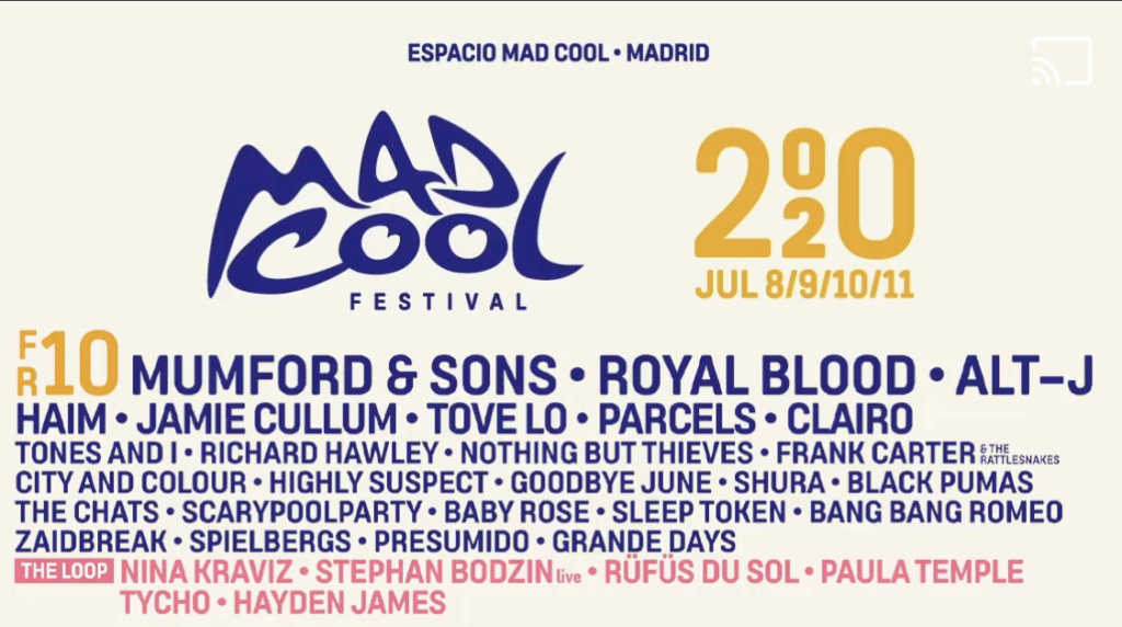 Mad Cool 2020 // Mumford and Sons, Royal Blood, Waxahatchee, The Last Internationale, Shura, The Chats,... - Página 5 68828f10