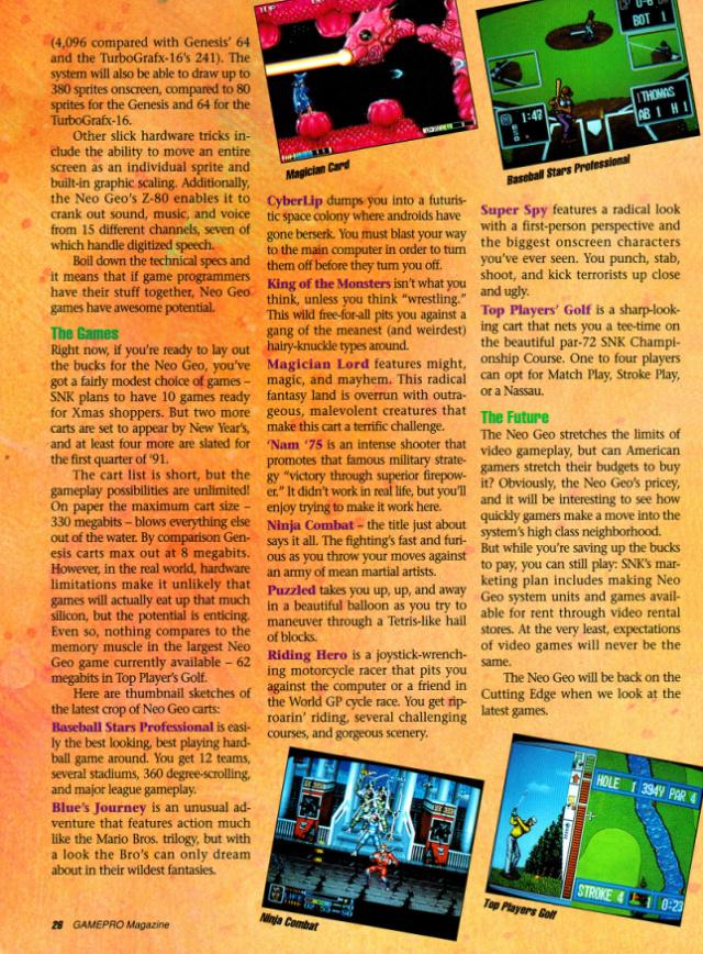 les dates de sortie de la console Neo Geo AES - Page 3 Gamepr12