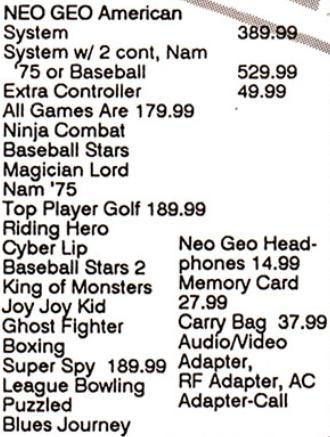 les dates de sortie de la console Neo Geo AES - Page 3 Gamepr13