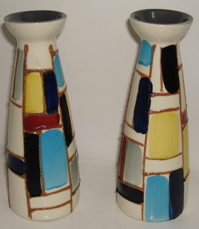 Two retro style vases - Strehla 882 Dsc08225