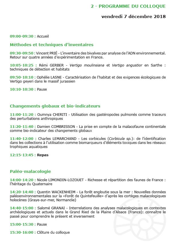 Colloque national de malacologie continentale : 6 & 7 Déc. 2018 au Muséum de Nantes Colll10