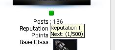 About reputation bar 210