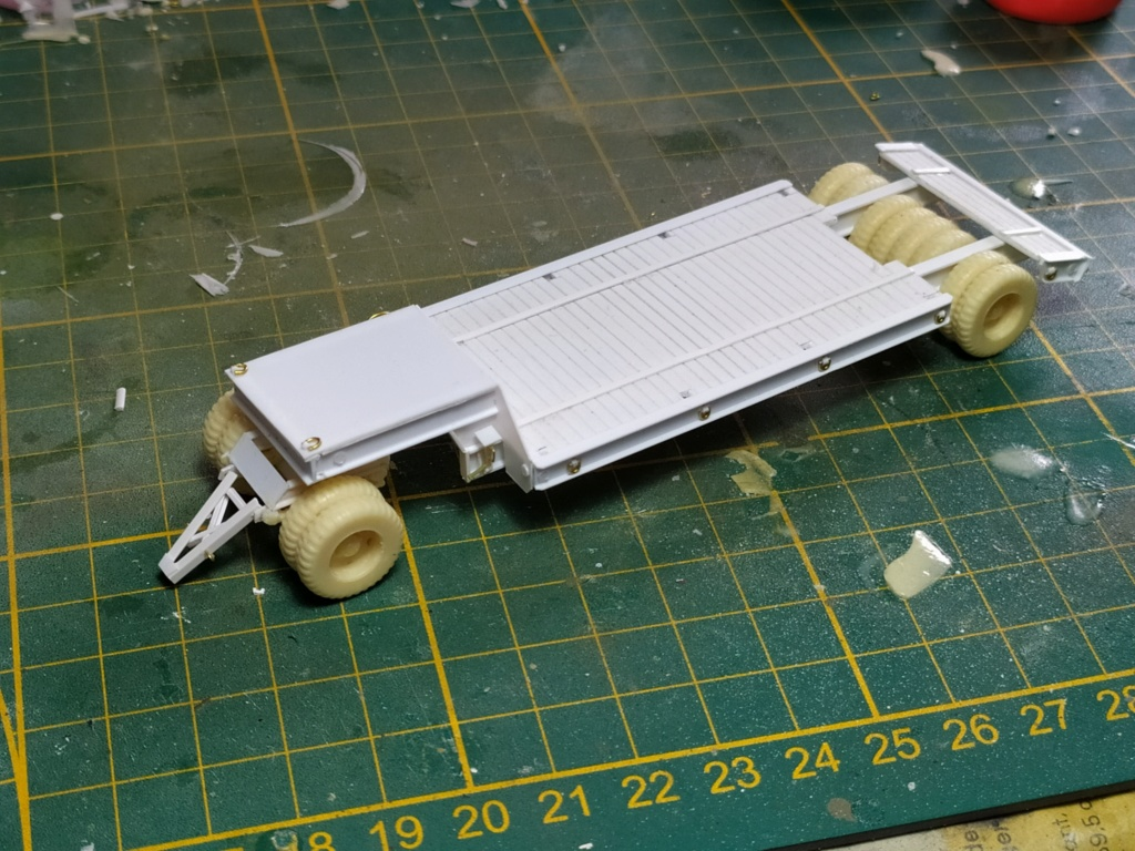 Rogers 20T low bed semi remorque + M35 Prime mover + Caterpillar D7  315