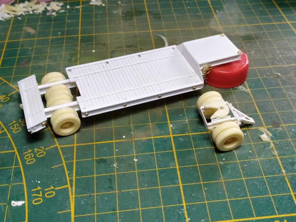 Rogers 20T low bed semi remorque + M35 Prime mover + Caterpillar D7  414