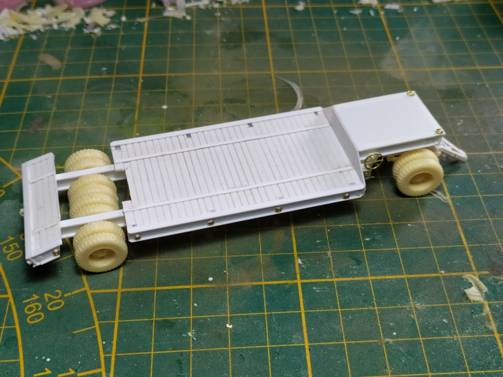 Rogers 20T low bed semi remorque + M35 Prime mover + Caterpillar D7  514