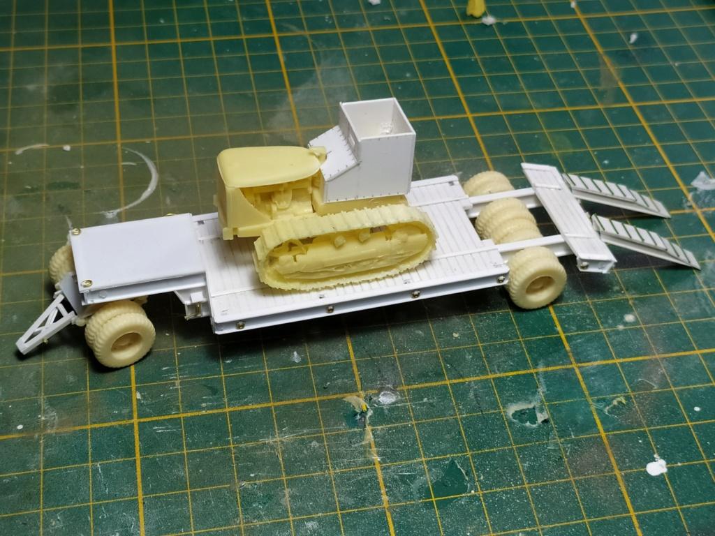 Rogers 20T low bed semi remorque + M35 Prime mover + Caterpillar D7  612
