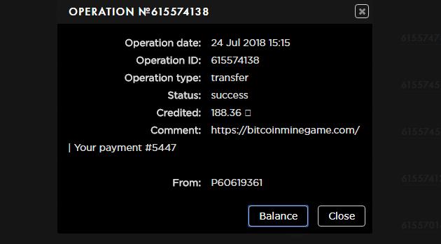 BitcoinMineGame - nowa gra BTC z niskimi min. kwotami wypłaty (BTC, RUB, USD) Payeer10