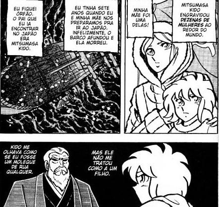 Distorção dos animes: Shun de pacifista forte para afeminado que apanha muito, a mulher  Mitsum11