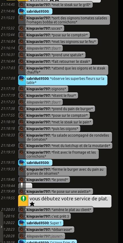 [R.] Rapports d'actions RP de kingxavier797  Bandic15