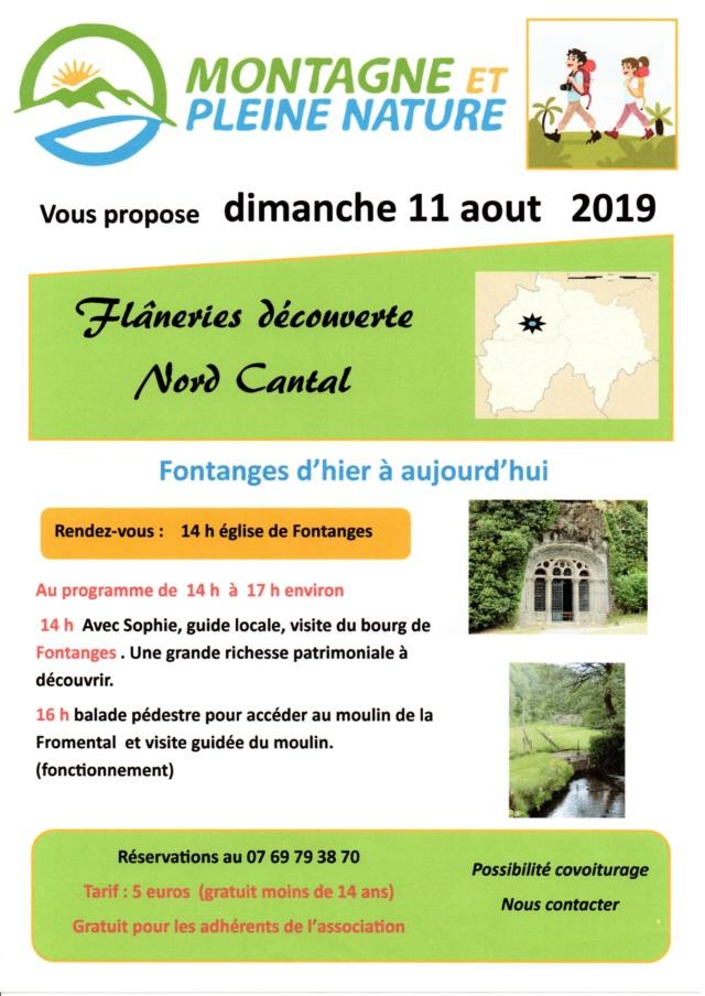 Association MONTAGNE ET PLEINE NATURE  NORD CANTAL  Affich11