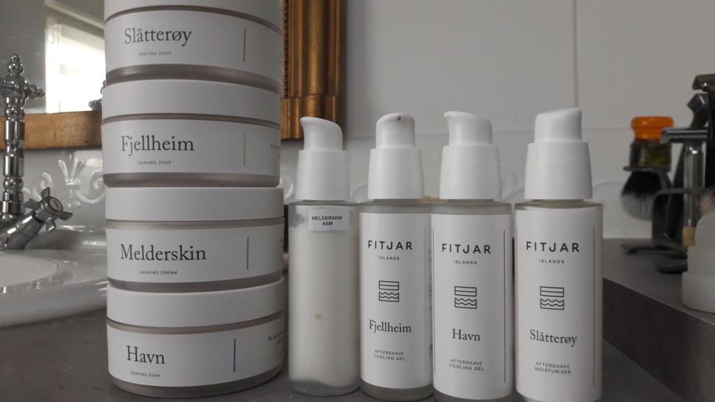 Revue: Produits Fitjar savon, crème à raser, baume et gel après rasage 20200356