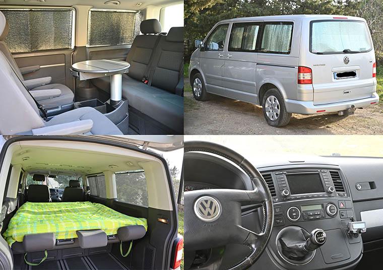 Vente Multivan T5 2,5 TDi 130  CONFORT 2007 - 261 000 km - VENDU 0310