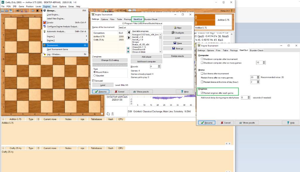 Configure Crafty 25.3 under Arena 3.5.1 GUI 888812