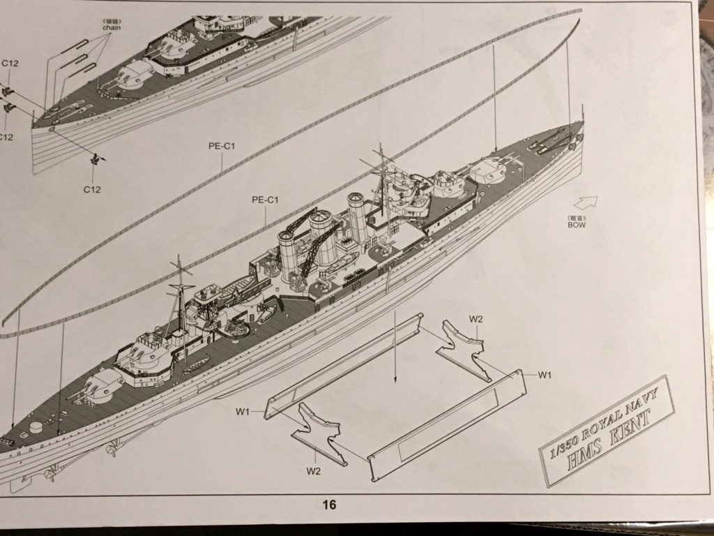 HMS Kent 1/350 Trumpeter 0e4b8610
