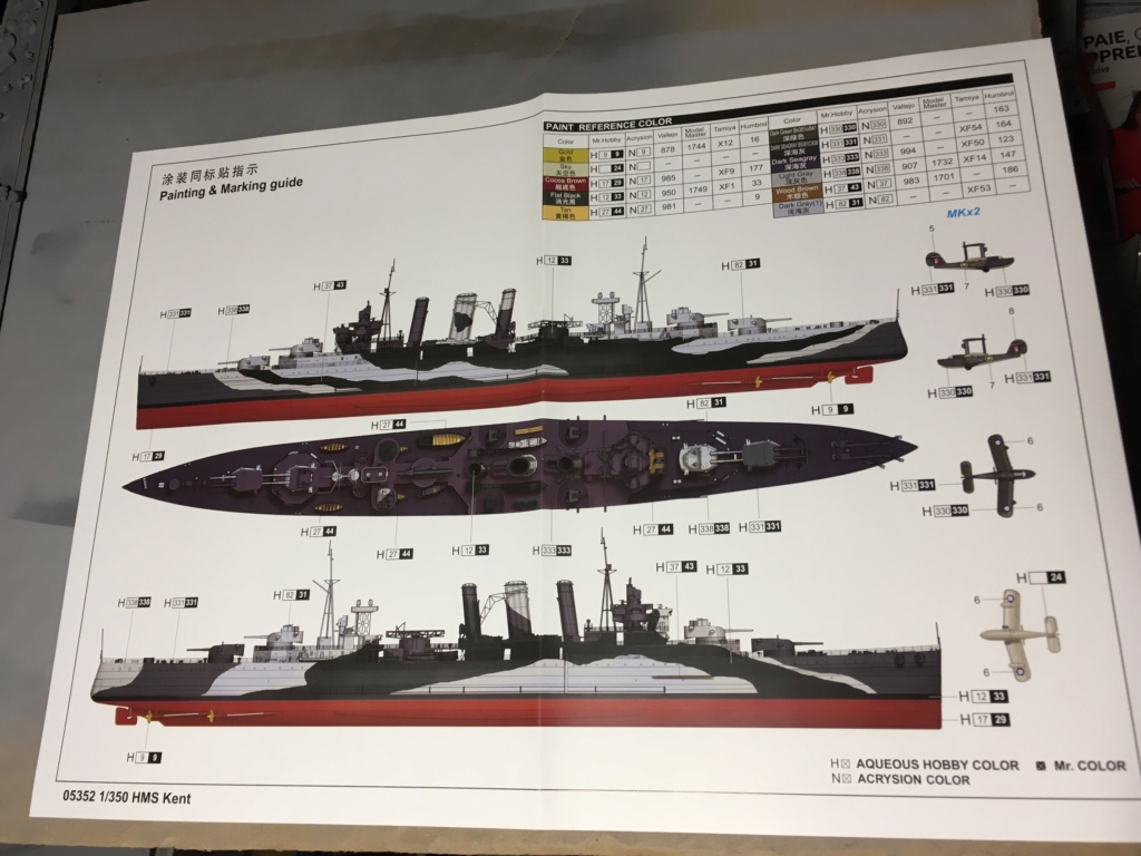HMS Kent 1/350 Trumpeter 36cbec10