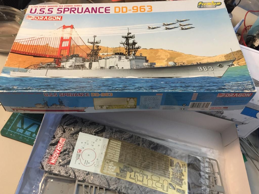 Destroyer USS Spruance DD963 - 1/700 Dragon  7e78da10