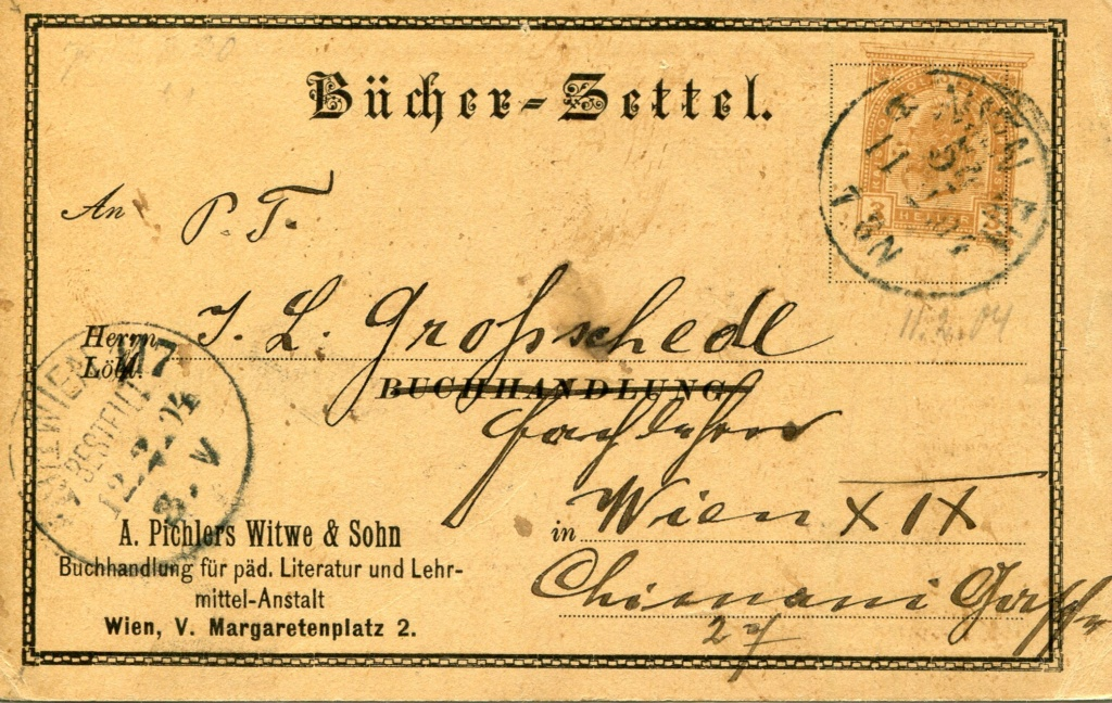 Privatganzsachen von A. Pichlers Witwe & Sohn 1900_p10