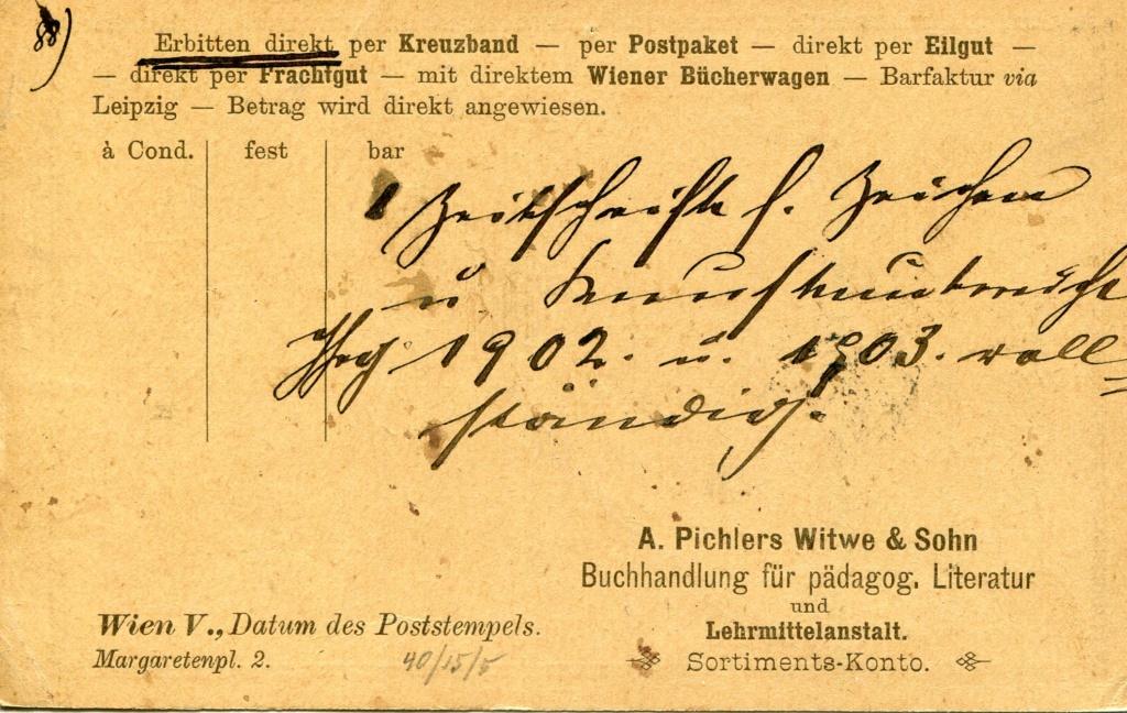 Privatganzsachen von A. Pichlers Witwe & Sohn 1900_p11
