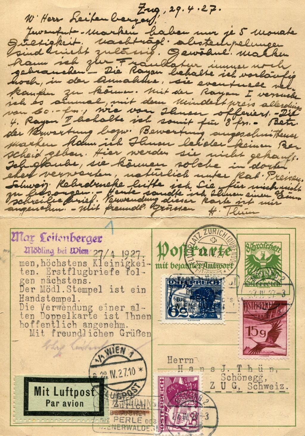 Bedarfspost Ganzsachen Österreich 1925-1938 - Seite 2 Bedard19