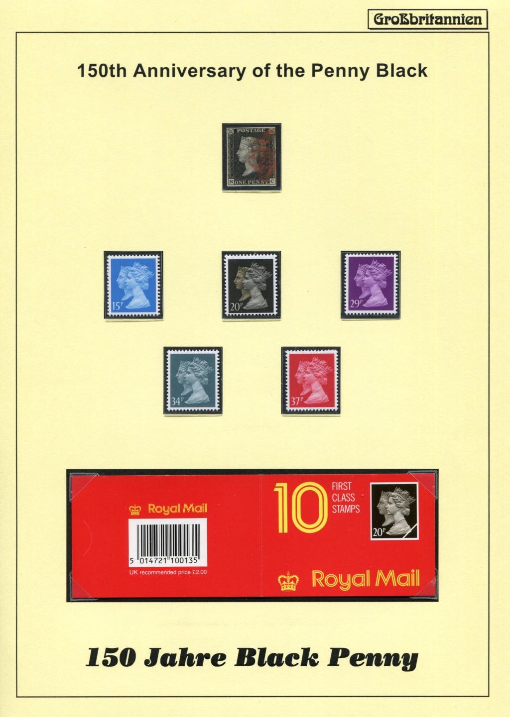 Großbritannien - 150 Jahre Briefmarken Black_11